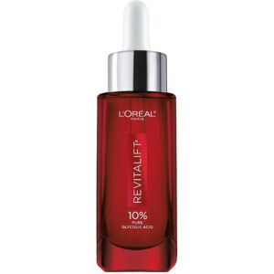 nighttime routine: l'oreal revitalift 10% glycolic acid
