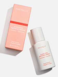 nighttime routine: peach and lily glass skin refining serum