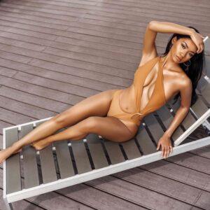 Mint Swim Swimwear - Nude cutout one piece