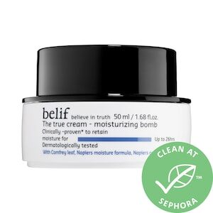 belief the true cream moisturizing bomb for dry and dehydrated skin