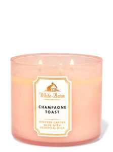 Champagne toast candle scent from Bath and Body Works
