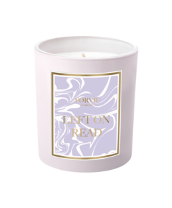 Purple candle from FORVR - Left on Read scent